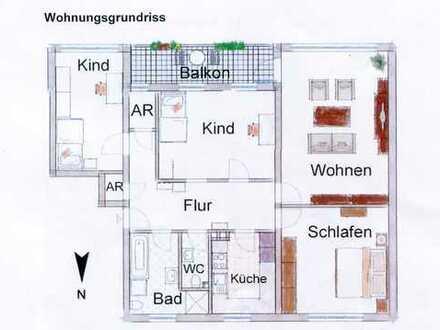 Schöne vier Zimmer Wohnung in Erlangen, Sieglitzhof