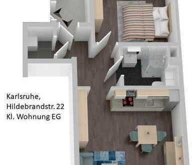 Erstbezug nach vollständiger Sanierung, Helle 2 Zimmer Wohnung in Karlsruhe, Durlach