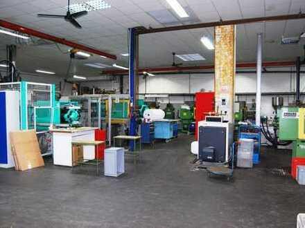 Autobahnnahe Produktion + Lagerhalle mit Büros, Sozialräumen, Rampe!