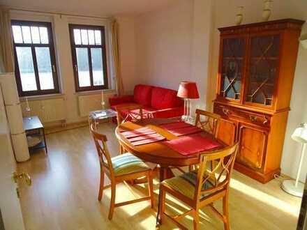 VB: Provisionsfreie, teilmöblierte, ruhige & zentrumsnahe 2-Zimmer-Dachgeschosswohnung in Gablenz