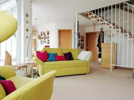 Stadtnah, aber trotzdem ruhig und im Grünen:  Moderne 3 1/2-Zimmer Maisonette Wohnung