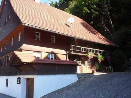 Schwarzwaldhaus mit 2-4 Einheiten in sonniger Südhanglage mit guten Fewo-Vermietungsmöglichkeiten