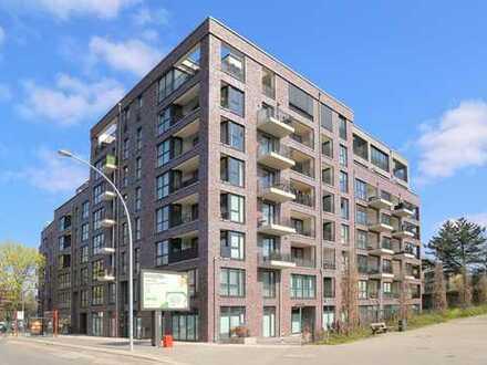 Attraktive 2-Zimmer-Neubauwohnung mit Balkon und herrlichem Weitblick über Barmbek zu vermieten