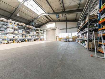 Asslar -knapp 2000m2 (Kranbahn)-Halle plus 500 m2 Magazin