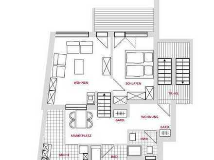 Moderner Grundriss, Maisonette, 2 Wohnebenen in Groß Buchholz