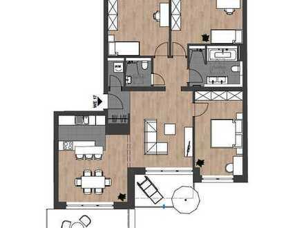 Erstbezug: Exklusives 4-Zimmer-Penthouse mit 2 Balkonen und hochwertiger Ausstattung in Citylage
