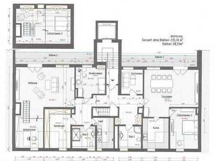 Extravagante 7-Zi.-Whg. mit ca. 250 m² auf 2 Ebenen in bester Citylage
