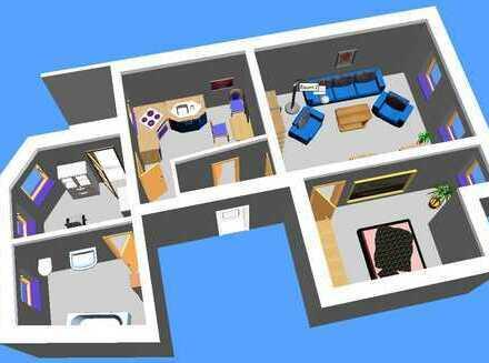 Frisch renovierte 2-Raum-Wohnung mit Balkon in zentraler Lage