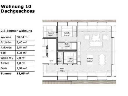 2,5 Zimmer Wohnung mit Ausblick!