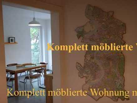 Neudorf: Helle, komplett und stilvoll möblierte Wohnung mit großem Balkon