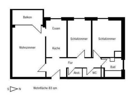 Ruhige und sonnige 3-Zimmer-Wohnung mit Balkon in Altenerding/Erding
