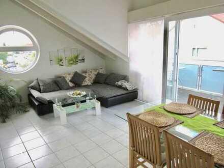 Gepflegte 3-Zimmer-Dachgeschosswohnung mit Balkon