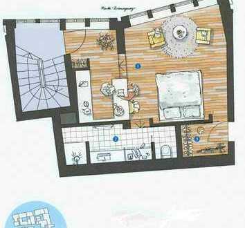 850 €, 36 m², 1,5 Zimmer