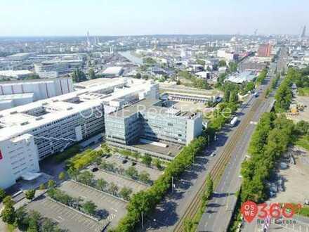 Vielseitig nutzbare EG-Fläche mit eigenem Eingang im dominanten Glaskörper zur Hanauer Landstr.!