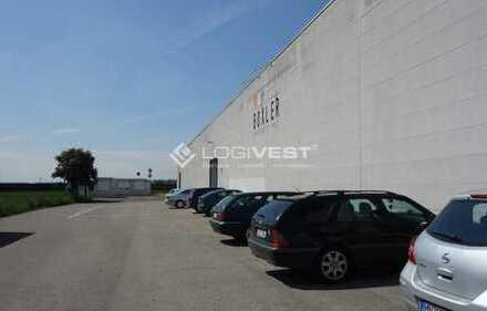 Lagerhallen im GVZ Berlin Ost Freienbrink an der A10