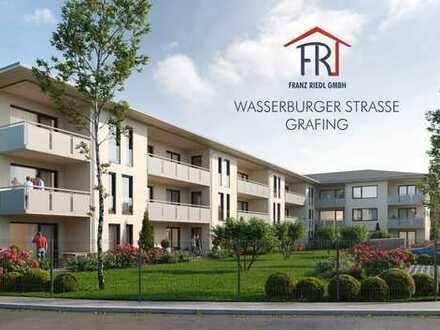 Neubau im Grünen: 2-Zimmer-Wohnung mit Balkon in Grafing