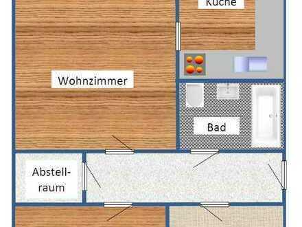 Erschwingliche und gepflegte 3-Zimmer-Wohnung mit Einbauküche und Balkon in Bernstadt