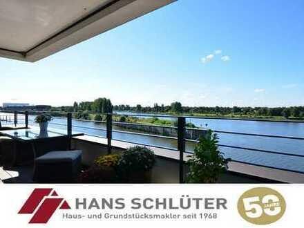 Überseestadt: Exklusive 3-Zimmer-Wohnung mit Weserblick!