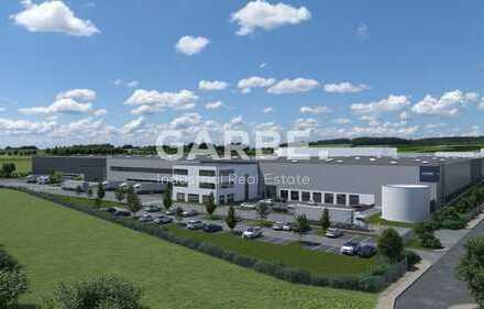 Provisionsfrei, Ab 3,80 €/m², Neubau-Logistikhalle, teilbar ab ca. 10.500 m², 10,5 m UKB, 24 Rampen