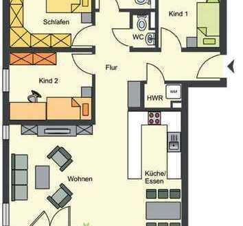 Schöne 4-Zimmer-Wohnung mit Balkon in Heidelberg