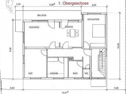 Neu renovierte 3 Zimmer- Wohnung im 1. Obergeschoss in ruhiger Wohnlage!