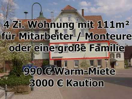 ab sofort - 4 Zi Wohnung mit 111m² in Breitenberg