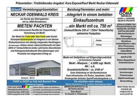 Neckar-Odenwald-Kreis - Restaurant/Gastro Markt 750 m² integriert/Einkaufszentrum/gute Verkehrslage