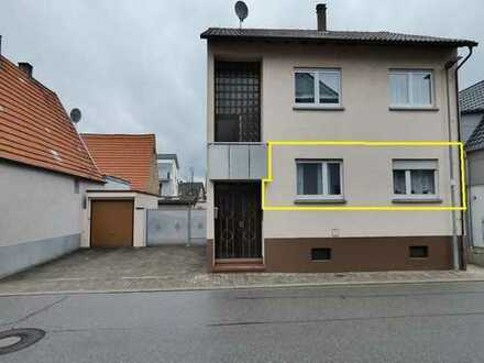 Großzügige 4-Zimmer-Erdgeschosswohnung mit eigener Garage in Hambrücken ab sofort zu vermieten