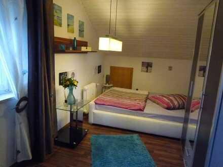 Stilvolle, nett eingerichtete 1-Zimmer-Dachgeschosswohnung mit EBK und Dusche