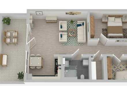 Hochwertig und modern ausgestattete 3-Zi-Seniorenwohnung mit Aussichts-Terrasse
