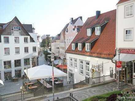 Mehrfamilienhaus mit Gewerbe, Betreiberwohnung und Maisonette-Wohnung - Fußgängerzone in Kempten