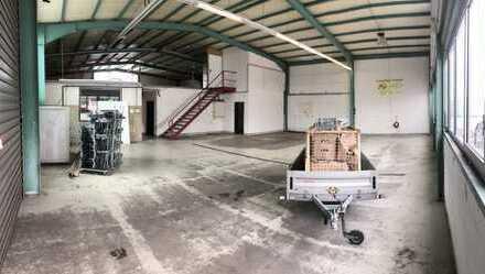 Lagerhalle mit Werkstatt, Büroräumen und Freifläche