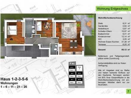 85,12qm 3 Zimmer Terrassenwohnung, No. 1