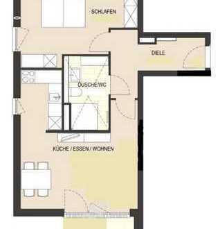 Exklusive 2-Zimmer-EG-Wohnung mit Balkon und Einbauküche in Bonn