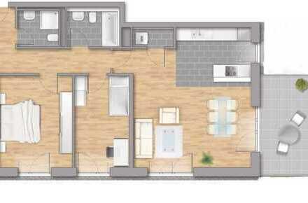 Erstbezug: ansprechende 3-Zimmer-Wohnung mit Balkon in Stutensee/Blankenloch