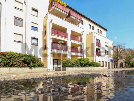 Vermietete Etagenwohnung mit Balkon und Pkw-Stellplatz nahe Leipzig als Kapitalanlage