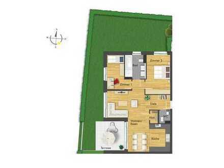 Hochwertige 3-Zimmer-Erdgeschosswohnung mit gemütlichem Garten