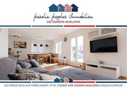 Haus in Haus: Luxus-Maisonette-Wohnung mit großer Terrasse und Loggia I Karolin Kappler Immobilien