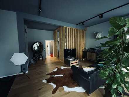 1,5-Zimmer Loft möbliert mit Einbauküche in Ebersbach.