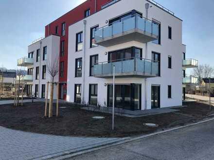Erstbezug mit Einbauküche und Terrasse: ansprechende 2-Zimmer-EG-Wohnung an der Altmühltherme