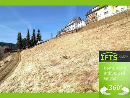 Sonniges Baugrundstück in sehr guter Lage, idyllisches Schwarzwaldpanorama, voll erschlossen.