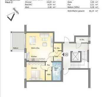 Gemütliche 2- Zimmerwohnung im Dachgeschoss (Whg 21)