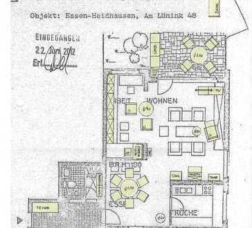 Schöne 4-Zimmer-Wohnung mit Terrasse / 12 qm in Essen / mit Markise
