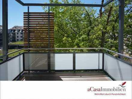Hochwertig ausgestattete 3 Zi-Wohnung mit West-Balkon und Blick ins Grüne