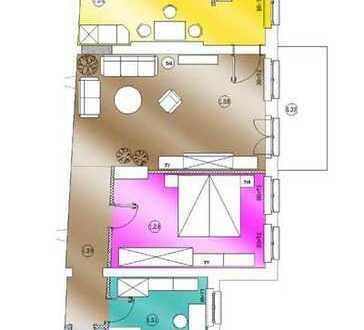 3 Zimmer mit Balkon und Speisekammer