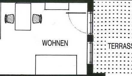 Gepflegte 1-Zimmer-Erdgeschosswohnung mit Balkon und Einbauküche in Singen (Hohentwiel)