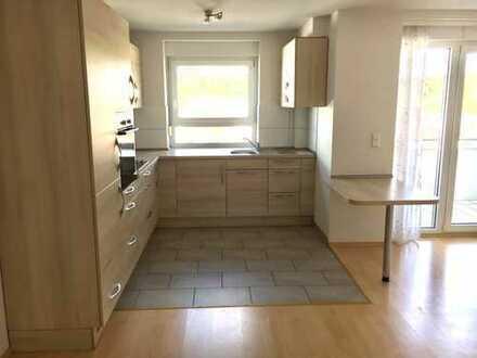 Exklusive, teilmöbilierte 2-Zimmer-Wohnung mit Loggia und EBK in Bretten