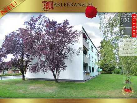 +++ NEU +++ Große 101 m² mit Balkon und Blick ins verkehrsfreie Grüne; 4 Zimmer