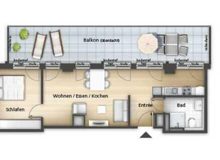 Erstbezug - Moderne 2-Zimmer Wohnung mit großem Balkon zum Innenhof