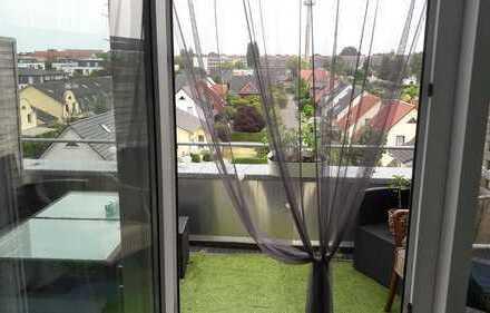wahnsinns Aussicht, 1 Raumwohnung, Einbauküche, großer Balkon